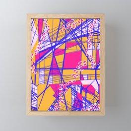 Bright Geo Framed Mini Art Print