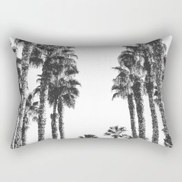 Palm Tree Days {2 of 2} Tropical Black and White Cali Art Print Rectangular Pillow