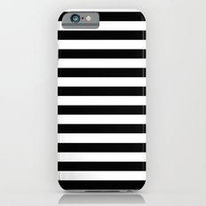 Modern Black White Stripes Monochrome Pattern iPhone 6 Slim Case