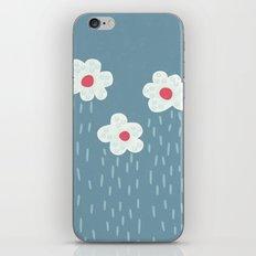 Rainy Flowery Clouds iPhone & iPod Skin