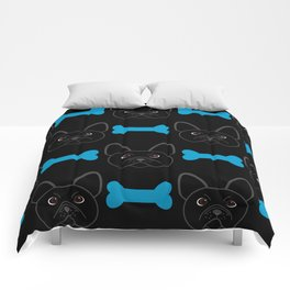 Frenchie Boy Blue Comforters