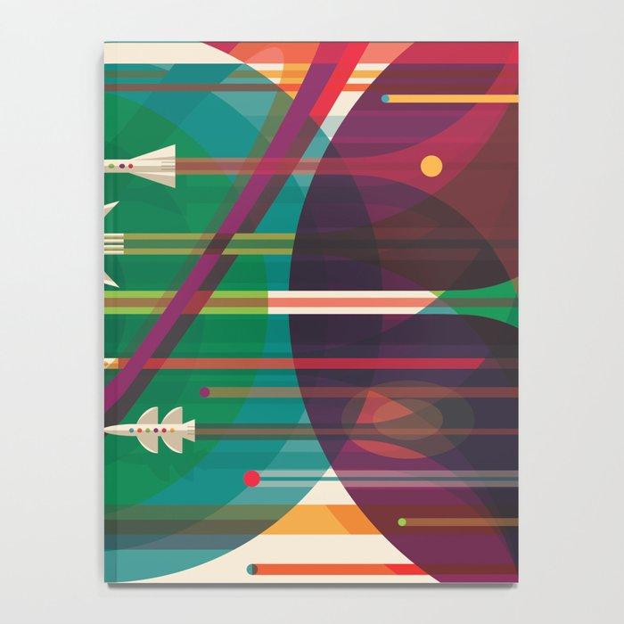 NASA Retro Space Travel Poster The Grand Tour Notebook