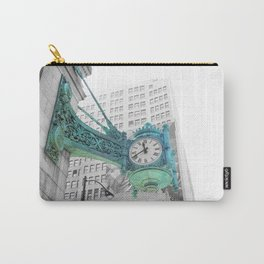 The Blue Chicago Clock Carry-All Pouch