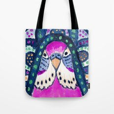 Aboriginal Budgie Tote Bag