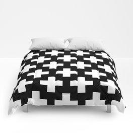 Swiss Cross W&B Comforters