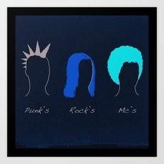 Classic Hair Style Art Print