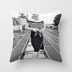 Femme fatale Throw Pillow