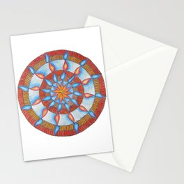 Water and Fire Mandala Stationery Cards