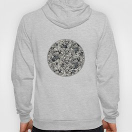 FLORAL Black and white // LIFE OF FLOWERS Hoody