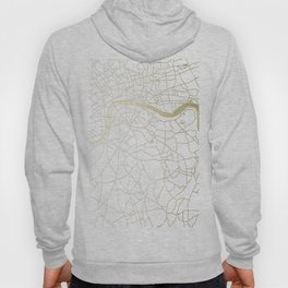 White on Yellow Gold London Street Map Hoody