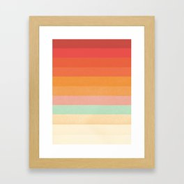 Rainbow Chevrons II Framed Art Print