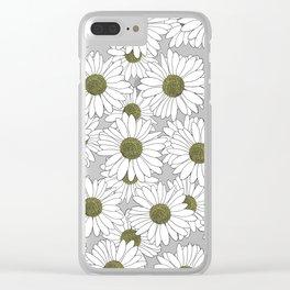 Daisy Blue Clear iPhone Case
