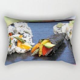 Sushi California Roll Rectangular Pillow