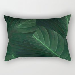 Banana palm greens tropical forest Rectangular Pillow