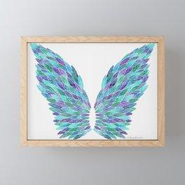 Turquoise Angel Wings Framed Mini Art Print