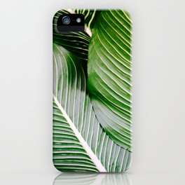 Big Leaves - Tropical Nature Photography iPhone Case
