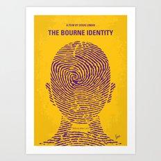 No439 My The Bourne identity minimal movie poster Art Print