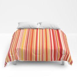 Old Skool Stripes - Red Pumpkin Comforters