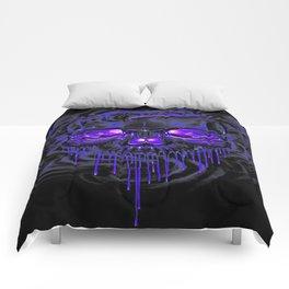 Purple Nurpel Skeletons Comforters