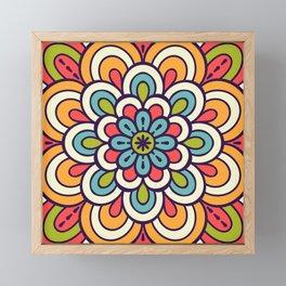 Mandala, Colorful Abstract Flower Framed Mini Art Print