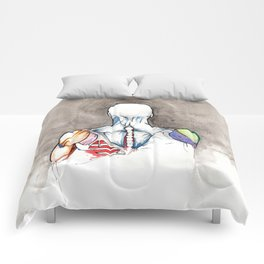 Non-apate, male back anatomy, NYC artist Comforters