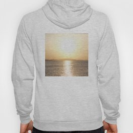 Sunset over Western Harbour Leith Edinburgh Hoody