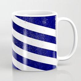 Greek Distressed Halftone Denim Flag Coffee Mug