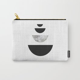 Minimal Abstract Half Moon Carry-All Pouch