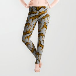 Tigers (Gray and Marigold) Leggings