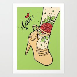Tattoo Shoe Art Print