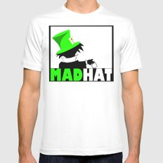 MAD HAT Mens Fitted Tee White MEDIUM
