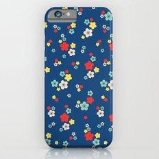 blossom ditsy in monaco blue iPhone 6s Slim Case
