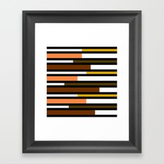 Brown, green, yellow & pink stripes Framed Art Print