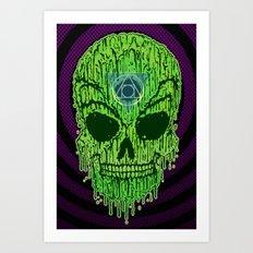 Toxxik Skull Art Print