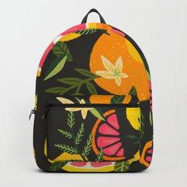 Grapefruit Blooms – Charcoal Palette Backpack
