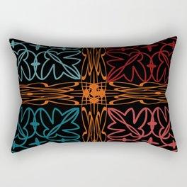 Teal Motif Rectangular Pillow