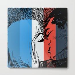French Love Pop Art Metal Print