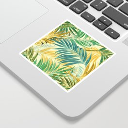 Palm Leaves in Yellow Sticker