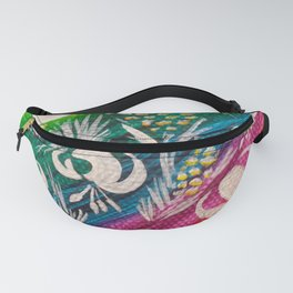 Leaves on the World Tree: Bosniak Pine and Golden Lily Fanny Pack
