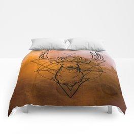 Nature Deer orange Comforters