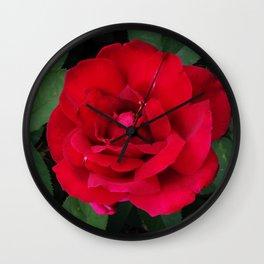 Single Red Rose 2 Wall Clock
