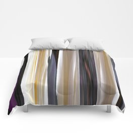 abstract striped pattern Comforters