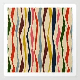 Bloomsbury Stripe Art Print