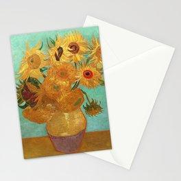 Vincent Van Gogh Twelve Sunflowers In A Vase Stationery Cards
