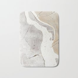Feels: a neutral, textured, abstract piece in whites by Alyssa Hamilton Art Badematte