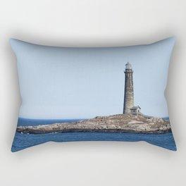 North Lighthouse Tower Thacher Island Rectangular Pillow
