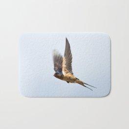Male barn swallow in flight Bath Mat