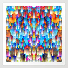 Colorful digital art splashing G397 Art Print