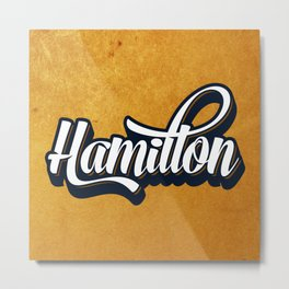 Hamilton Golden Graffiti style Metal Print