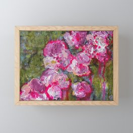 Meet me at the flower shop - Floral painting Framed Mini Art Print
